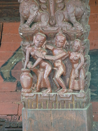 Erotic Carvings Pashupatinath Temple