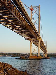 The Forth Road Bridge, Viewed From The Fife Side