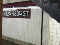 182nd-183rd Streets IND Concourse Line Station