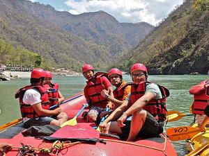 Adventure Camping on Ganga River Photos