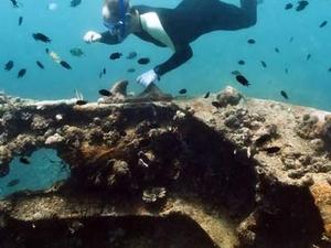 Sunken Japanese Wreck