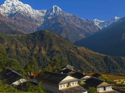 A View Of Annapurna And Macchapucchre Range From Ghandruk