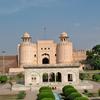 Hazuri Bagh Baradari With Lahore Fort