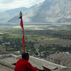 Terrace Of Diskit Monastery With Nubra Valley And Diskit Village