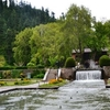 Inside Mughal Gardens At Achabal