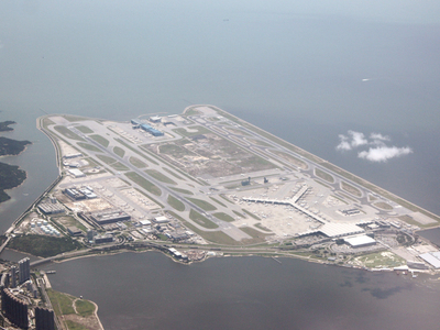A Bird   Eye View Of  Hong  Kong  International  Airport