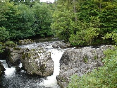 Afon  Llugwy From  Pont  Y  Pair