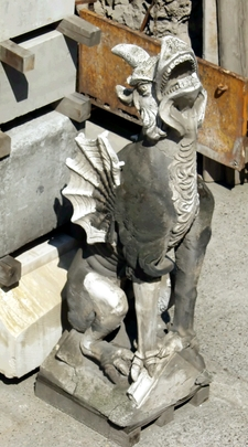 A Gargoyle Under Restoration