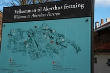 Akershus Fortress Information Board