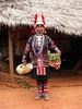 Akha Tribeswoman Wearing Traditional Dress