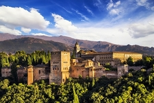 Alhambra Arabic Fort In Granada - Andalusia Spain