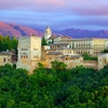 Alhambra From Mirador De St. Nicolas - Granada Andalucia