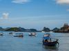 Anchored Boats At Langkawi Island