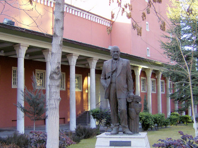 Statue Of Cüneyt Gökçer In Front Of Ankara Opera House