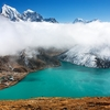 Arakam & Cholatse Peaks With Dudh Pokhari Lake In Nepal