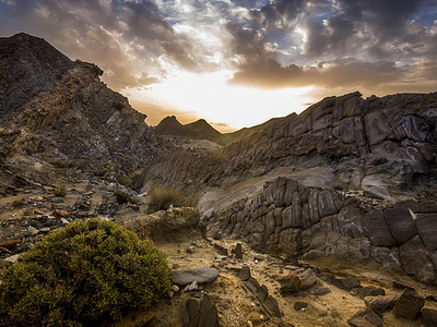 A Sunrise In The Tabernas Desert