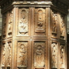 Sculpted Wood Panels On The Pulpit