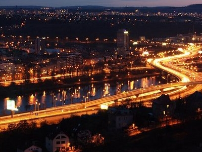 Barrandov Bridge At Night