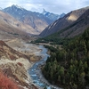 Baspa River Flowing Next To Chitkul