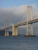 Bay Bridge With Clouds