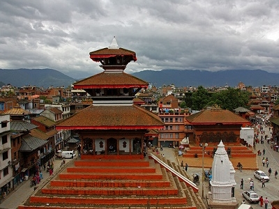 Bhaktapur Overview With Temple