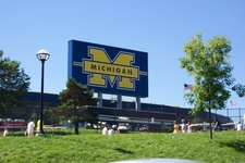 Exterior View Of Michigan Stadium