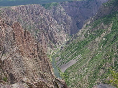 Black Canyon With Gunnison River