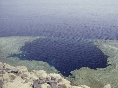 Blue Hole Seen From Above
