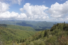 Blue Ridge Mountains From Parkway - North Carolina