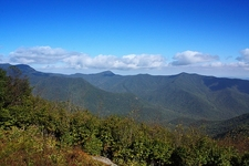 Blue Ridge Mountains Range In North Carolina
