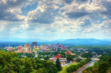 Blue Ridge Mountains - View Over Asheville NC