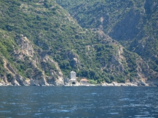 Boathouse Belonging To Simonos Petras Monastery