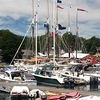 Boats At Dock In Camden Maine
