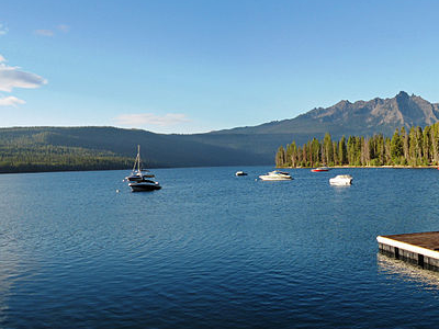 Boats In Redfish Lake