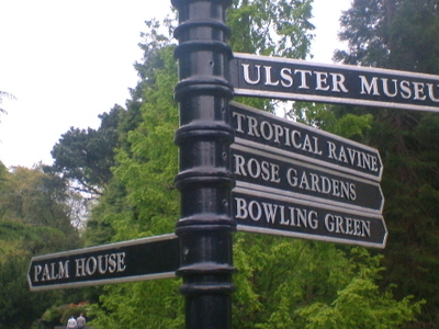 Botanic Park Sign Post