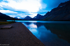 Bow Lake In Evening