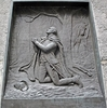 Brass Relief Of George Washington Kneeling In Prayer