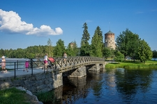 Bridge From Savonlinna To Ovalinlinna Castle