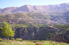 Bsharri As Seen From Across The Qadisha Valley