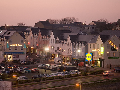 Ardaravan Square In Buncrana At Twilight