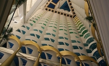 Side View Of Atrium In The Burj Al Arab
