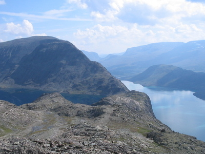 Besseggen Seen Towards East
