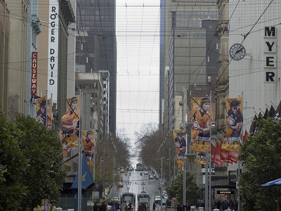 Bourke Street Mall Between Swanston Street And Elizabeth Street