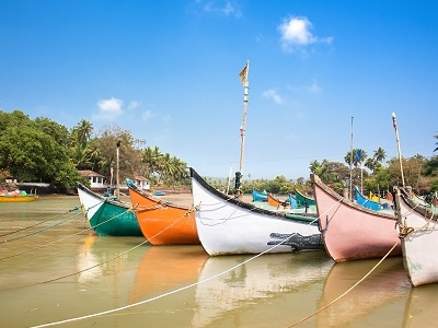 Calangute Beach Boats