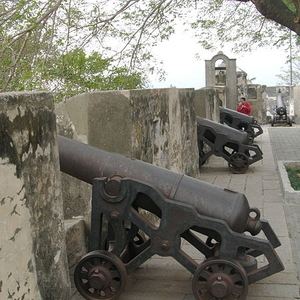 Cannons Line The Fortress Walls
