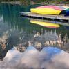 Canoes On Moraine Lake