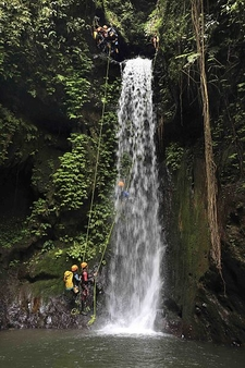 Canyoning In Gitgit Waterfall, Bali