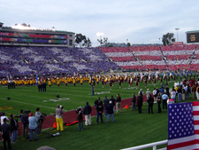 Card Stunt At Rose Bowl