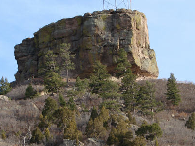 Castle  Rock Butte In  Castle  Rock  Colorado