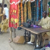 Chadian Tailor Sells Traditional Dresses